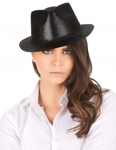 Chapéu preto brilhante adulto-1