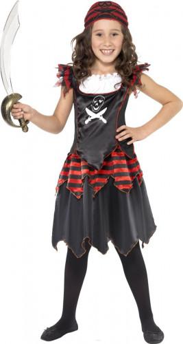 Disfarce pirata preta menina