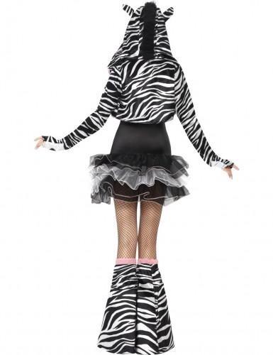 Disfarce com tutu de zebra para mulher-2