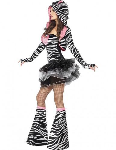 Disfarce com tutu de zebra para mulher-1