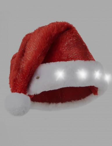 Gorro de Pai Natal vermelho luminoso.-1