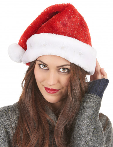 Gorro de Pai Natal vermelho luminoso.-2