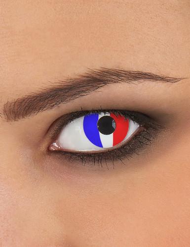 Lentes fantasia bandeira francesa adulto