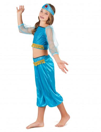 Disfarce de dancarina oriental azul menina-1