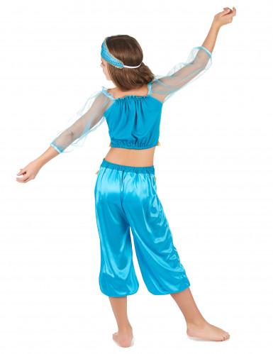 Disfarce de dancarina oriental azul menina-2