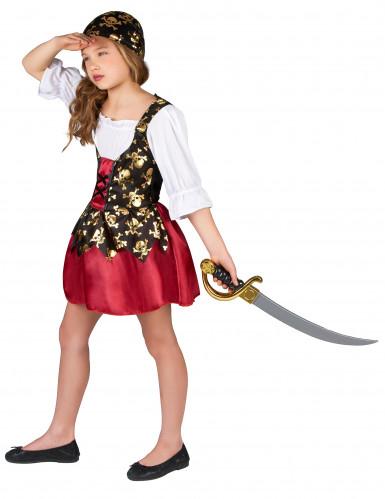 Disfarce de pirata motivos dourados menina-1