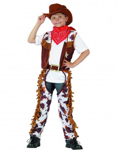 Disfarce cowboy rapaz
