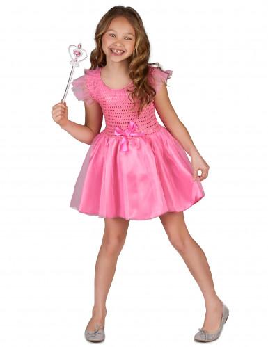 Disfarce princesa cor de rosa para rapariga