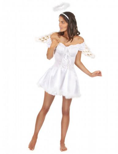 Disfarce de anjo para mulher