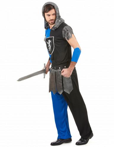 Disfarce cavaleiro azul medieval homem-1
