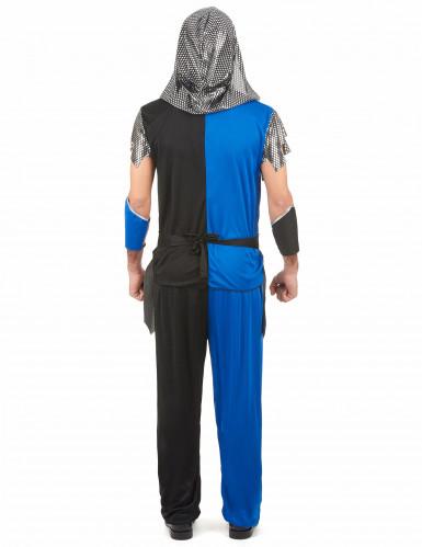 Disfarce cavaleiro azul medieval homem-2