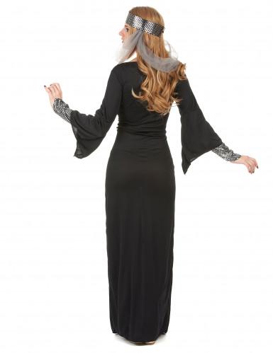 Disfarce medieval preto mulher-2