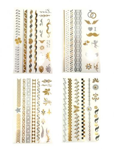 Tatuagens dourado e prateado