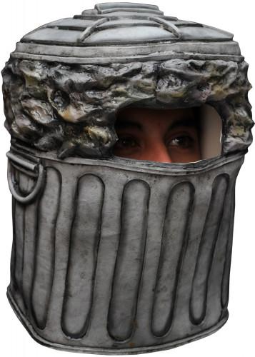 Máscara integral de caixote de lixo