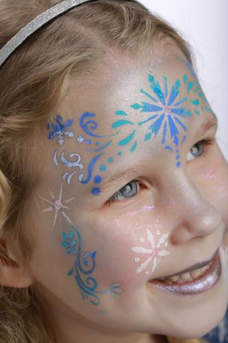 Stencil de maquilhagem reutilizável Princesa do gelo Grim Tout-3