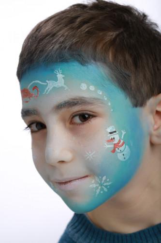 Stencil de maquilhagem reutilizável Princesa do gelo Grim Tout-2