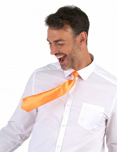 Gravata cor de laranja adulto