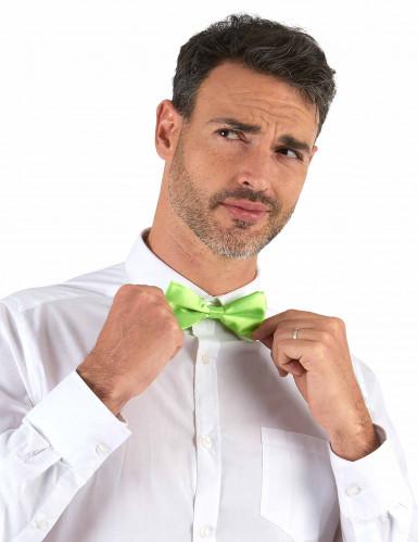 Gravata borboleta verde fluorescente - adulto