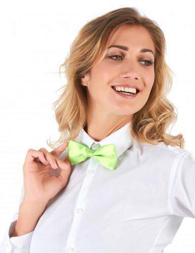 Gravata borboleta verde fluorescente - adulto-1