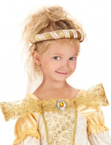 Coroa de flores Dourada para criança-2
