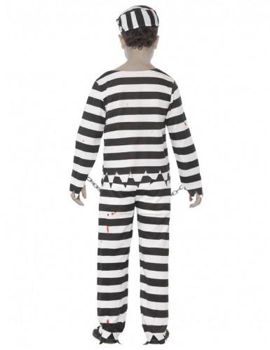 Disfarce zombie prisioneiro criança-1