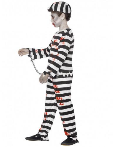 Disfarce zombie prisioneiro criança-2