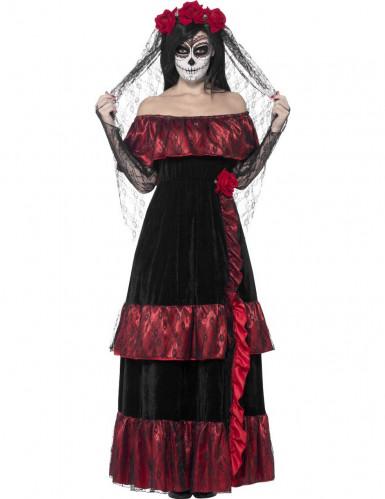 Disfarce de casada mexicana mulher Halloween