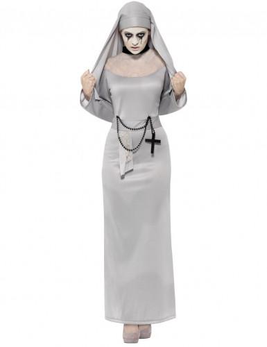 Disfarce freira fantasma mulher Halloween