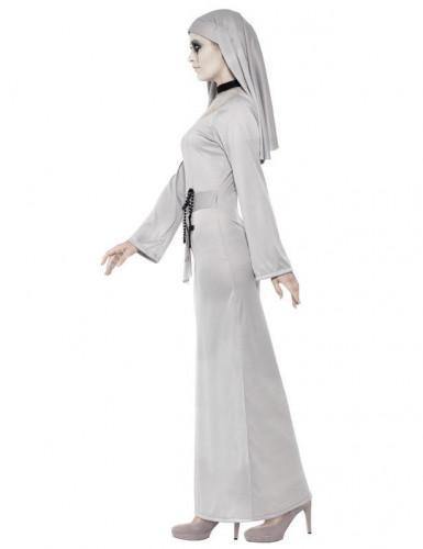 Disfarce freira fantasma mulher Halloween-1