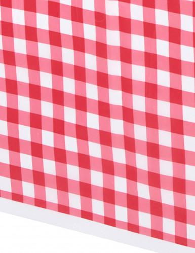 Toalha de mesa em plástico vichy vermelho 137 x 274 cm-1
