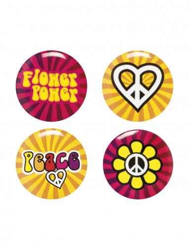 4 Pins Hippies Flower Power