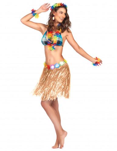 Saia havaiana em plástico adulto
