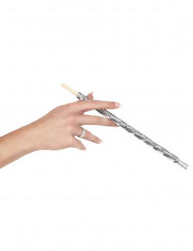 Porta cigarros com lantejoulas prateadas-1