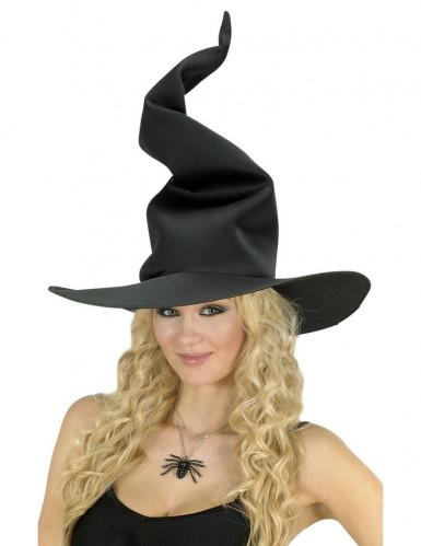 Chapéu bruxa preta mulher Halloween