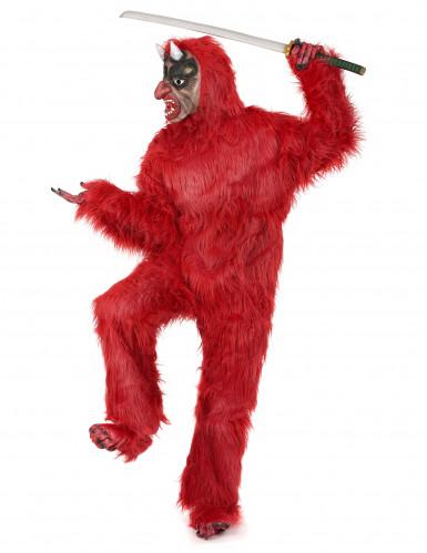Disfarce diabo vermelho luxo adulto Halloween-1