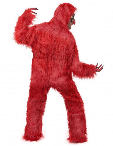 Disfarce diabo vermelho luxo adulto Halloween-2