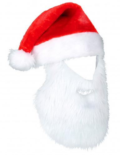 Gorro Pai Natal com barba adulto Natal