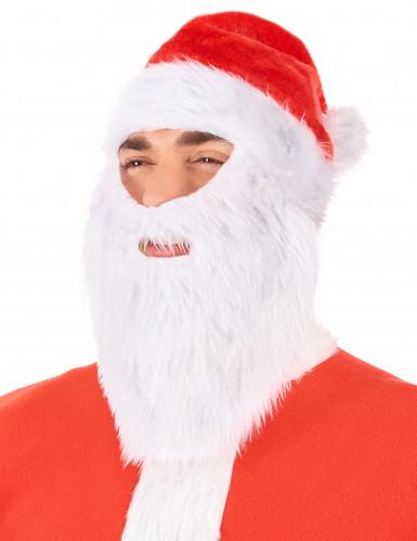 Gorro Pai Natal com barba adulto Natal-1