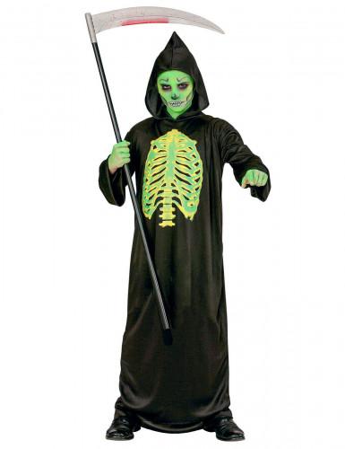 Disfarce esqueleto esventrado menino Halloween