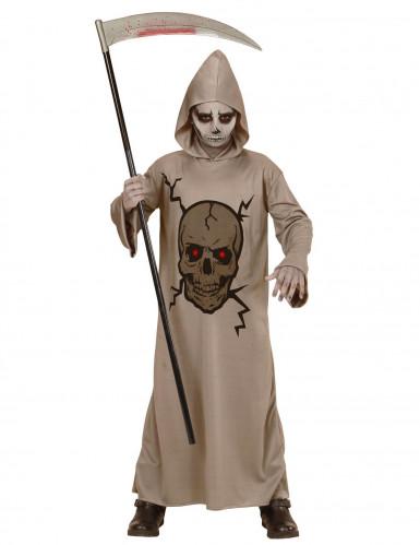 Disfarce ceifeira esqueleto menino Halloween