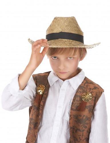Chapéu cowboy de palha criança-1