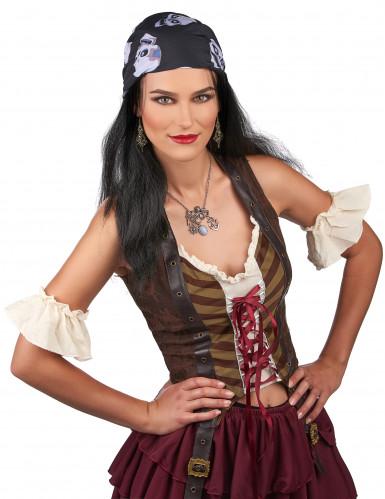 Peruca pirata com bandana caveira-1