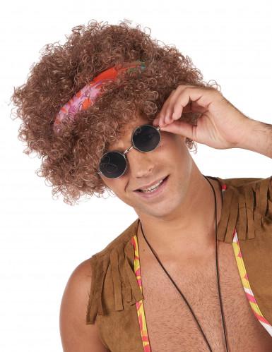 Peruca afro hippie para homem - 130g