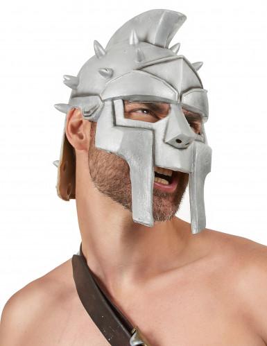 Capacete de látex de guerreiro adulto