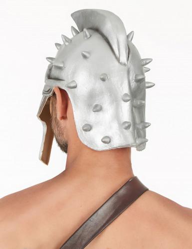 Capacete de látex de guerreiro adulto-1