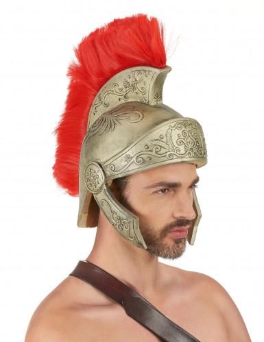 Capacete em latex para guerreiro romano em tamanho de adulto