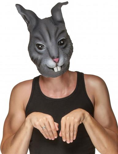 Máscara de látex coelho adulto