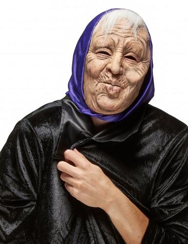 Máscara de látex mulher idosa adulto Halloween