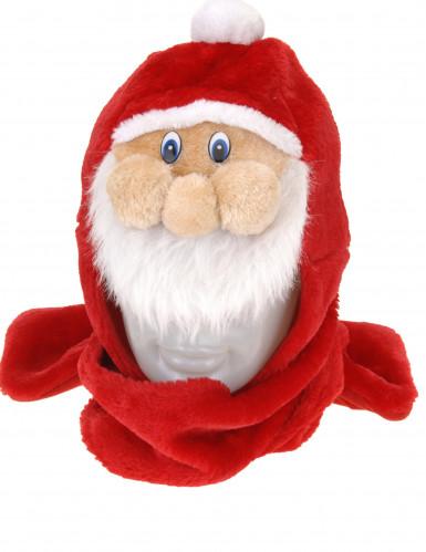 Gorro com cachecol Pai Natal adulto