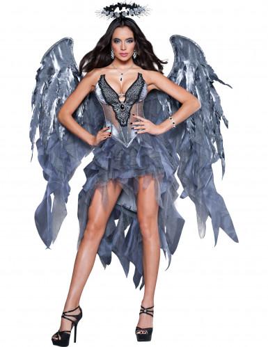 Disfarce Premium de anjo e demónio para mulher